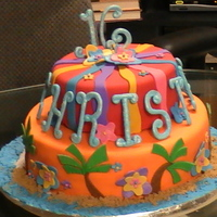 Sweet 16 My first attempt at using fondant.