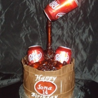 Dr Pepper Barrel Cake