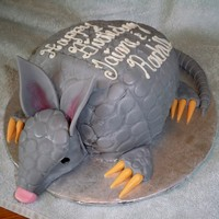"Dug The Armadillo My sister calls me up this Tuesday and says ""how quickly can you make me a cake"" I say ""depends on what kind of cake you..."
