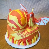 Bakugan Dragonoid Cake This cake was requested to me and I had a great time making it. I lightened the cake by using an easter egg in the center of the body. Then...