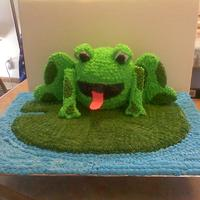 Frog Cake On Lily Pad