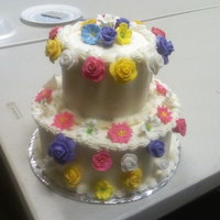 Two Layer Flower Cake