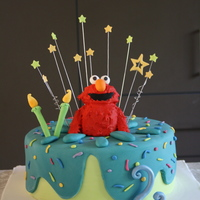Elmo Birthday Cake This is another Elmo cake, I had to make two cakes for a clients son, they were having 2 parties! It was fun to try different designs!