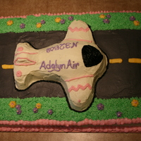 Airplane Birthday Cake Chocolate cake with buttercream (non crusting, as I know the difference now). First cake I ever decorated. This was for my daughter's...