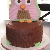 """mr. Owl""   Baby shower cake"
