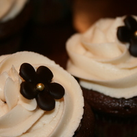 Mocha Chocoyaya's Cupcakes I made to celebrate Mother's Day. They were sinfully delish and a big hit all around! Satin Ice dark chocolate flowers with...
