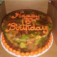 Airbrushed Camo Cake