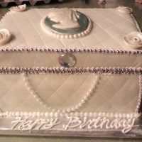 Jewelry Box Cake This is my first jewelry box cake, it is made with marshmallow fondant