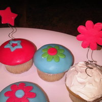 Fondant Covered Cupcakes