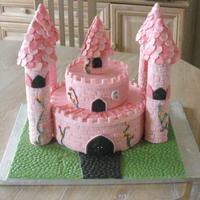 Birthday Cake   First attempt at a Castle cake...stll lots to learn..