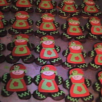 A Few Christmas Cookies   Love my cricut. Sugar cookies dipped in Kalua Gananche. Yum