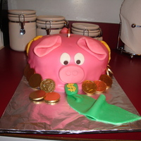 "Piggy Bank Banker My sister asked me to do this cake for her boyfriend when he landed his first real ""suit and tie"" job at a bank. This was my..."