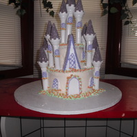 Make A Wish Cake white cake -decorated with the wilton kit
