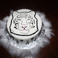 White Tiger   9 inch double-layer cake