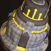 Scottish Tartan Cake A surprise cake for my brother turning 30! Chocolate cake layers, chocolate ganache buttercream & fondant -the tartan is edible too. My...