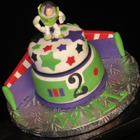 Buzz Lightyear Cake Buzz is all the rage these days! This is actually a mini cake, but would probably work just as well as a larger cake (the top tier is only...