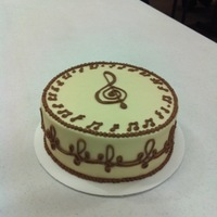 Music Notes For cake class. Good piping practice!