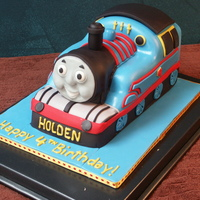 Thomas The Tank For whomever thinks a Thomas cake would be easy: It's not. But it was fun! Thanks for looking!