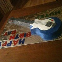 Electric Guitar Blue and black electric guitar cake all buttercream .