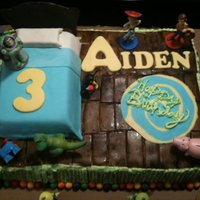 Toy Story Toy Story cake for my nephew. Its WASC with butter cream icing and fondant