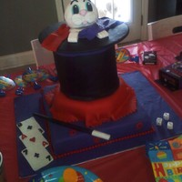 Rabbit In Hat Magicians Cake   Cake for a Magicians Themed birthday party.