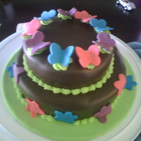 Simply Butterflies This cake was for my sister. All chocolate and fondant.
