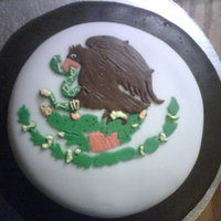 Cinco De Mayo Cake This was my first fondant cake. All chocolate.