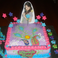 Selena Gomez - Wizards Of Waverly Place Birthday Cake Selena Gomez themed birthday cake.