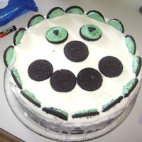 Oreo Smile Mint and cookie dough ice cream cake