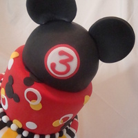 Mickey Mouse Third Birthday This is the birthday cake I made for my son this year. It's a vanilla bean cake with peanut butter white chocolate mousse and...