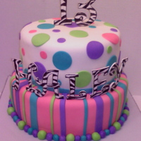 Zebra And Bright Colors Cake