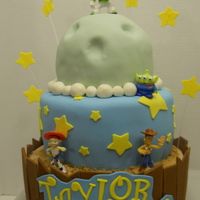 Toy Story Cake Toy Story cake with purchased posable figures