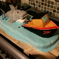 Jaws Cake. The Jaws Birthday Cake.