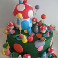 Garden Gnome Cake Birthday cake for a three-year-old who likes gardening and wonders who looks after the garden when we're not there? All made with...