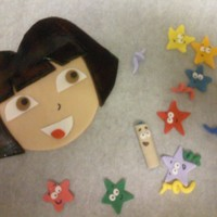 Dora's Face,stars And Map