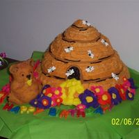 !st Birthday This was the cake I made for my girl's !st Birthday. The bear was all her's!