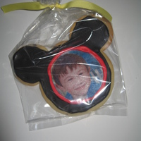 Photo Mickey Mouse Cookie Mickey Mouse Cookie with edible picture.