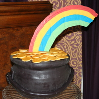 "My Very Own Pot Of Gold The cake was made with ""Elvis Presley's"" whipping cream cake and frosted with buttercream, although the cake doesn't..."