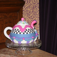 Mackensie Childs Teapot inspired by many CC members, thank you. Mackensie Childs was the inspiration for the design. It's a dark chocolate cake with...