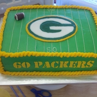 Green Bay Packers packers cake for a superbowl party, would have been nice if i remembered to put the superbowl logo, or at least XLVeverything is...