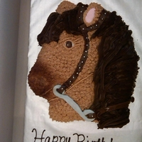 Reining Horse My bit is too low on the bridle, but when I realized it, the fondant had already started setting up. I used chocolate MMF, and the bit is...