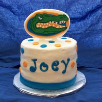 Go Gators! Key Lime cake, cream cheese frosting, all decorations made from fondant.