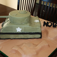 Military Tank Army Marine Birthday Cake My friends son wanted a tank cake so I put this number together. I used sheet pound cake and carved the shape. Butter cream then of course...