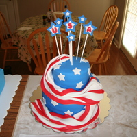 Soaring Spirit 4Th Of July Cake