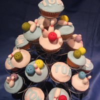 Bowling Cup Cake