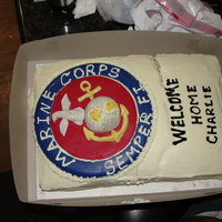 Welcome Home Cake  My cousin returned home from Iraq & his wife asked my hubby & I to make a Welcome Home Cake for him. It broke but everyone loved it...