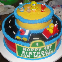 Sesame Street 1St Birthday  My hubby & I were asked by a friend of mine to make a cake for her son's 1st bday. It was Sesame Street Theme & we attempted...