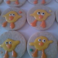 Easter Chicks Easter Chicks Rolled sugar cookie with corn syrup frosting