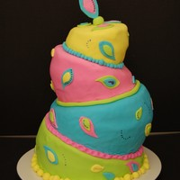 Topsy Turvy Class Cake This cake was my first topsy turvy cake! I had a lot of fun with it!