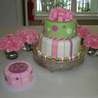 Girlie First Birthday Cake & Smash Cake This was my first fondant loopy bow! It was way too delicate. I was using MMF, so I might have to try a bought fondant or mix with gumpaste...